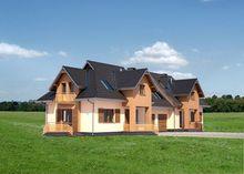Архитектурный проект стильного коттеджа с пятью просторными спальнями