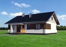 Одноэтажная усадьба прямоугольной формы 13 на 10