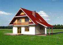 Проект красивого загородного дома с площадью около 150 m²