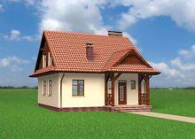 Архитектурный проект небольшого дома в стиле кантри