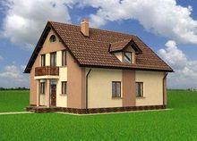 Оригинальный проект коттеджа с площадью 170 m²