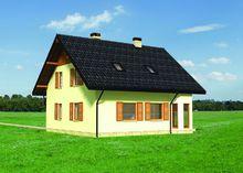 Архитектурный проект уютного коттеджа с небольшой террасой