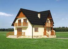Стильный загородный дом с острой крышей площадью 230 m²