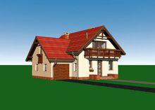 Стильный загородный дом с остекленной верандой