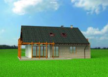Стильная загородная усадьба с огромной террасой и балконом