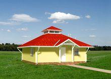 Примечательный проект домика до 60 m²