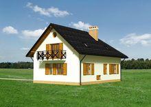 Г-образный дом с мансардой