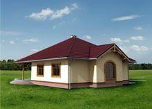 1 этажный дом с многоскатной крышей