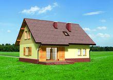 Проект мансардного коттеджа до 150 m²