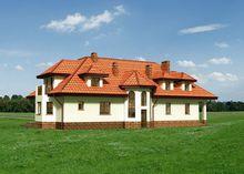 Проект поместья для узкого участка
