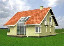 Дом с мансардой в традиционном стиле площадью 170 m²