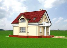 Традиционный проект дома с мансардой 9 на 10