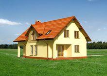 Лучистое аккуратное строение мансардного типа
