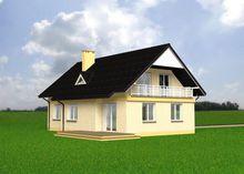 Пригожий жилой дом с тремя балконами