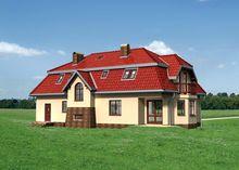 Стильное двухэтажное строение с шестью личными комнатами