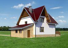 Домик с мансардой площадью 140 m² с гаражом