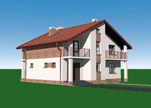 Величественный жилой дом под двускатной крышей