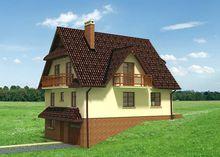 Величественный дом для неровного жилого участка