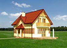 План небольшого жилого дома с тремя спальнями