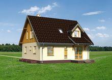 План компактного загородного дома с цокольным этажом