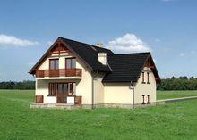 Стильный жилой дом с совмещенной столовой - кухней