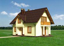 Дом с красивым балкончиком 8 на 10