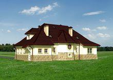 Необычный красивый дом с просторной гостевой зоной