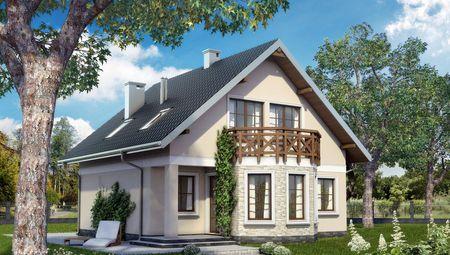 Двухэтажный коттедж в традициях европейской архитектуры