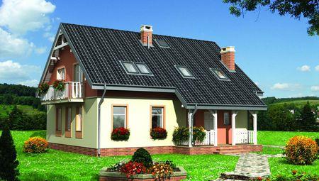 Красочный дом с просторным балконом