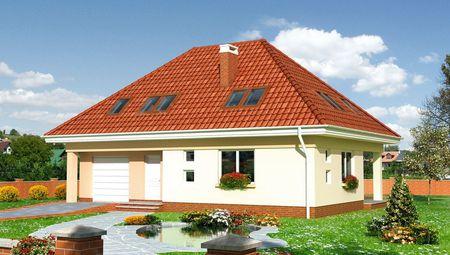 Дом с мансардным этажом в европейском стиле