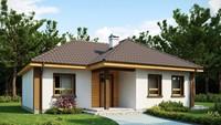 Проект небольшого одноэтажного дома с тремя спальнями