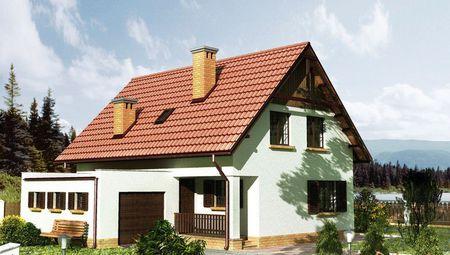 Стильный двухэтажный дом с гаражом площадью 110 м2