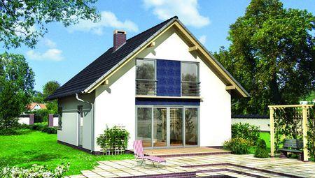 Компактный дом со строгим внешним видом