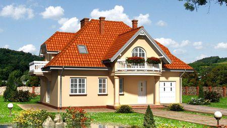 Чертеж прекрасного коттеджа площадью 177 кв. м в чешском стиле