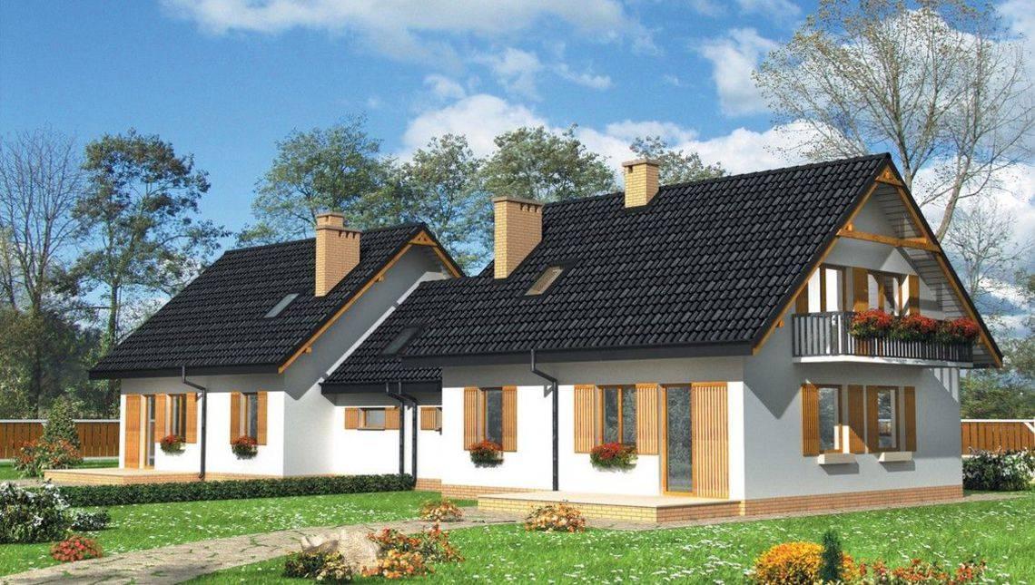 Архитектурный проект большой загородной виллы с гаражом