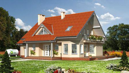 Архитектурный проект виллы в современном стиле с площадью более 200 m²