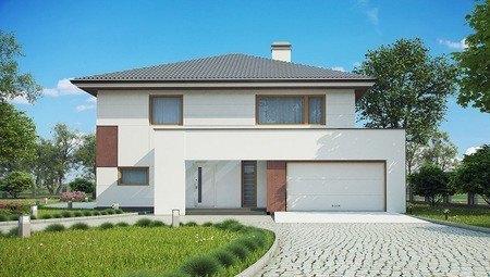 Проект двухэтажного дома с современными элементами