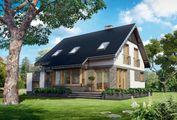 Стильная загородная вилла с красивой угловой террасой