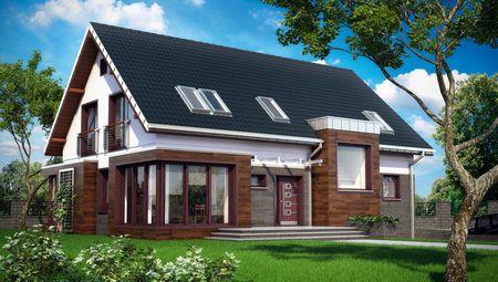 Красивый загородный особняк для большой семьи с гаражом, террасой и шестью спальнями
