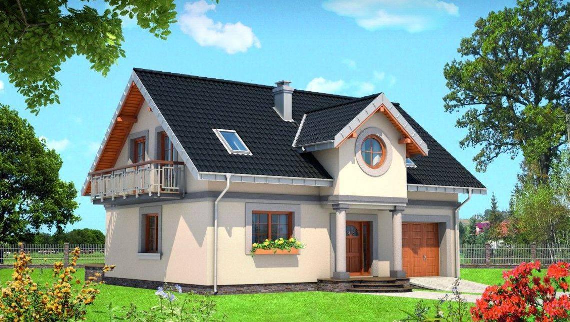 Архитектурный проект особняка в классическом стиле с роскошной террасой