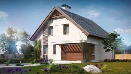 Проект дома с мансардой и эркером