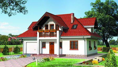 Великолепный проект дома с мансардой 12 на 12 м