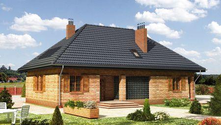 Жилой дом мансардного типа с зимним садом