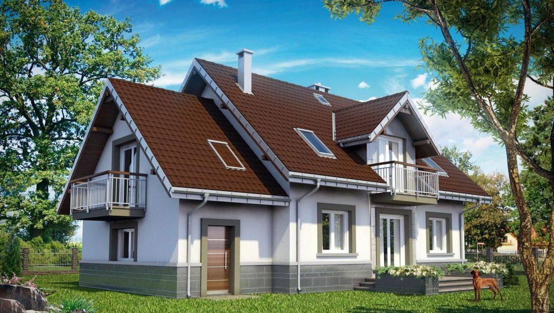 Двухэтажный загородный дом повышенной комфортности
