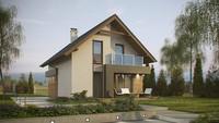 Проектнебольшого классического дома для узкого участка