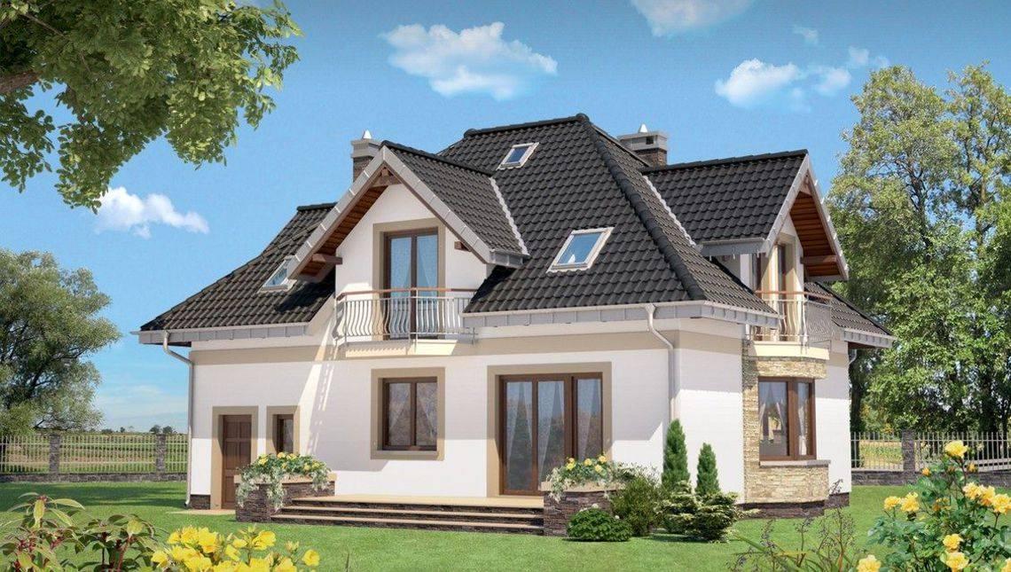 Проект стильного изящного особняка жилой площадью 180м2