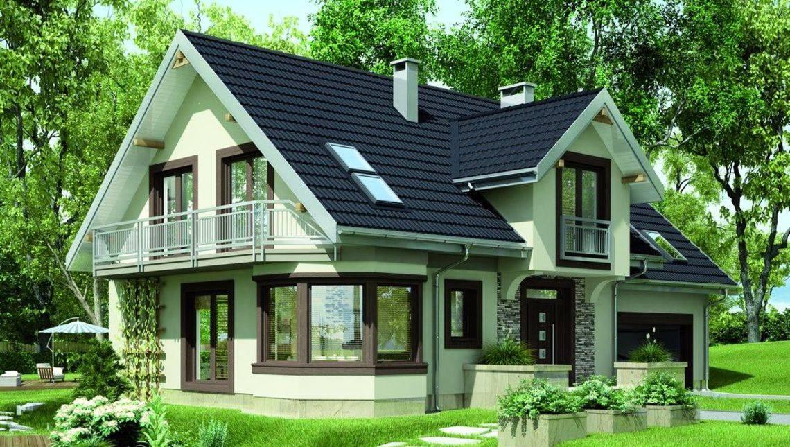 Проект элегантного загородного дома повышенной комфортности