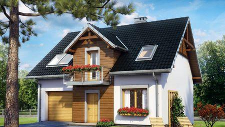 Двухэтажный дом удобной планировки