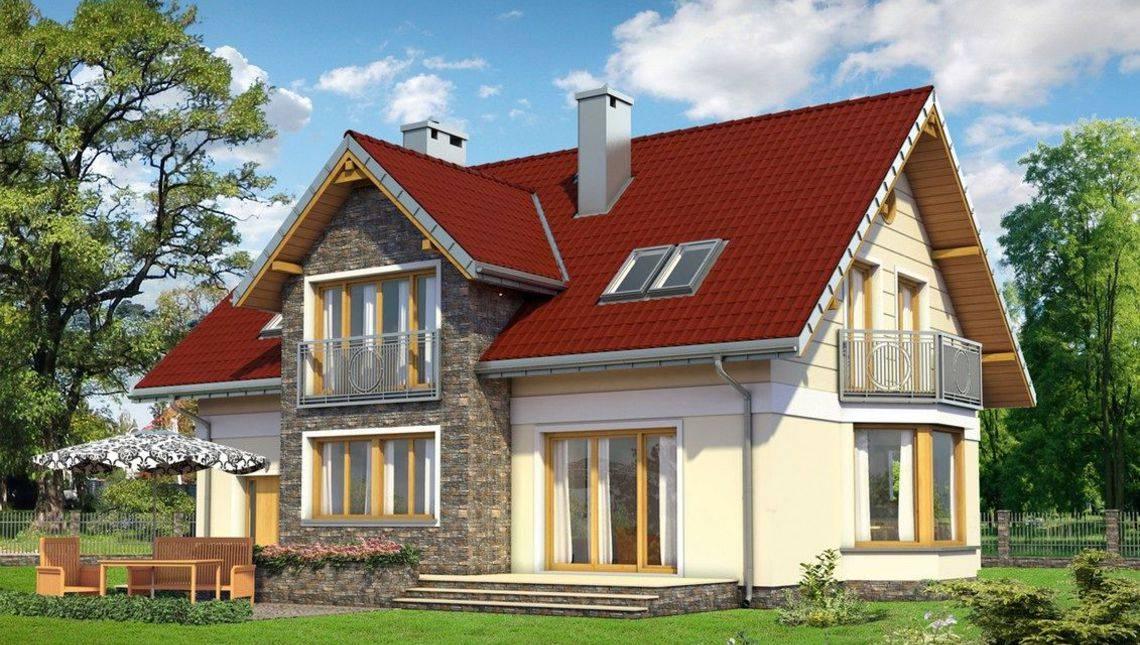 Проект красивого мансардного дома 11 на 14