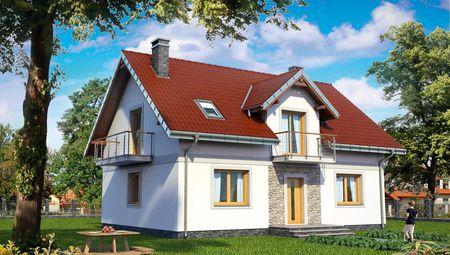 Дом прямоугольной формы 9 на 12